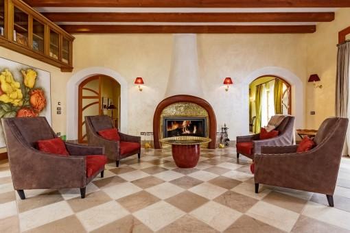 Cosy chimney lounge