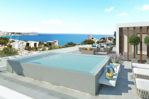 Luxury duplex apartment with sea views in a small newly-built complex in Ca's Catala
