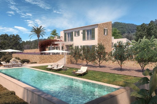 Mediterranean country house with pool in Cas Concos