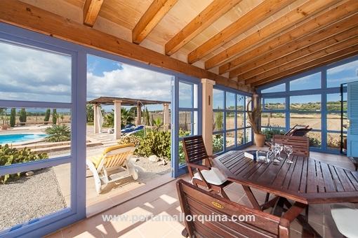 Charmant uitbreidbaar landhuis met zwembad en prachtig uitzicht bij Montuiri