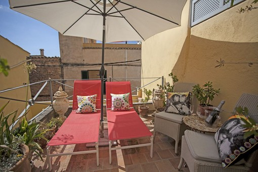 Cosy, quiet town house with a lovely patio and several terraces in Andratx with holiday rental licence