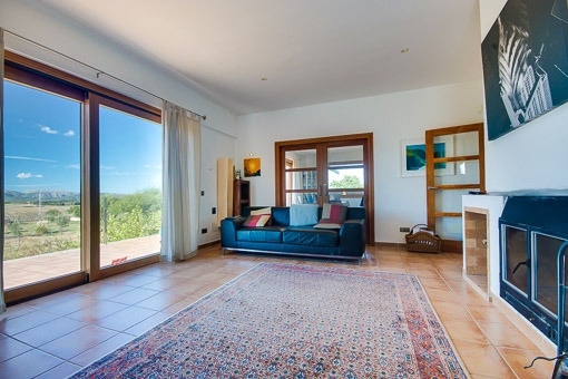 Panoramic sliding doors of the living room