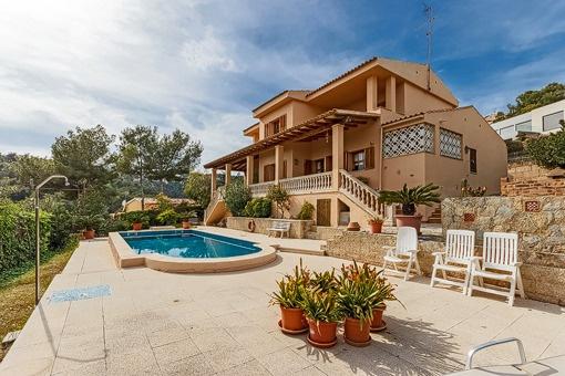 Geweldige gezinsvilla met uitzicht op zee in Costa d'en Blanes