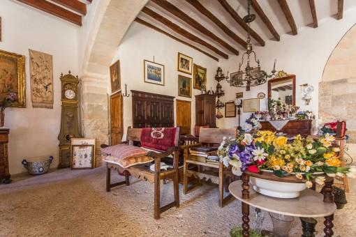 Beautiful traditional living area