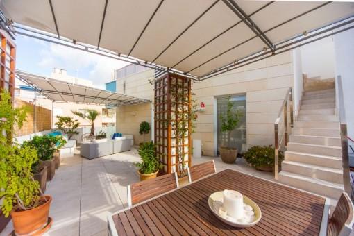Pergola on the terrace