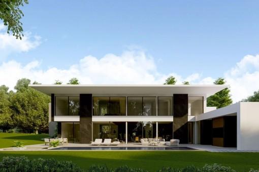 Modern luxury villa with advanced architecture in Santa Ponsa