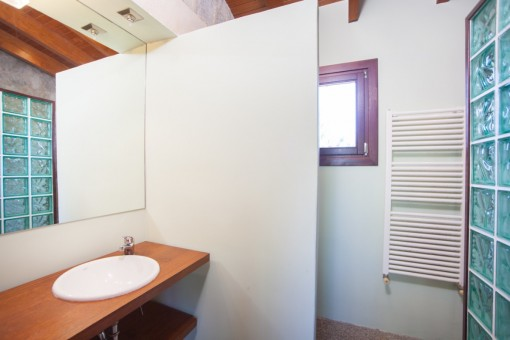 One of 2 bathrooms with shower