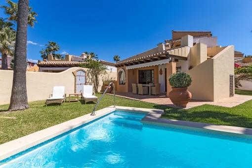 Leuk huis met veel privacy aan de golf van Santa Ponsa