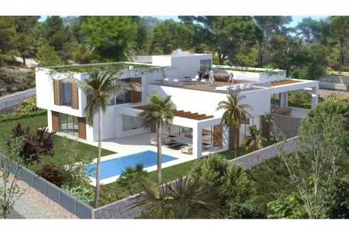 Project to construct a modern luxury villa in Sol de Mallorca