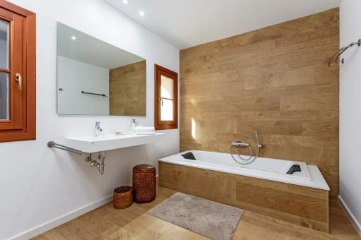 Gorgeous bathroom with bathtub