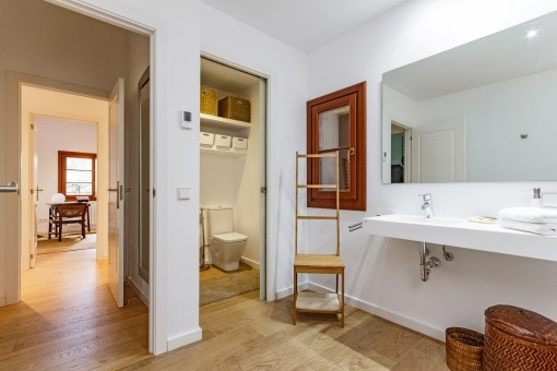 Bathroom with separated toilet