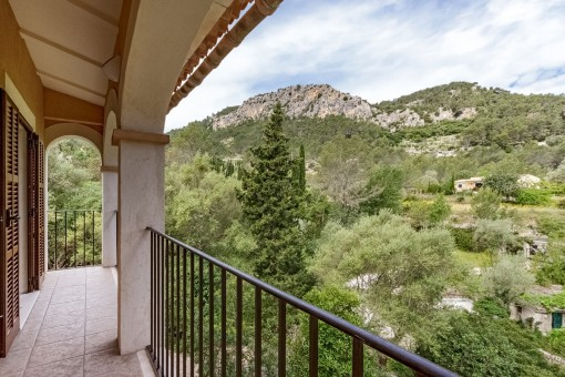 Mountain views from the balcony