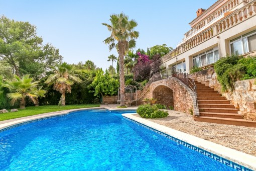Inviting pool area in the garden