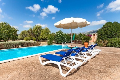 Enjoy the surroundings on the pool side