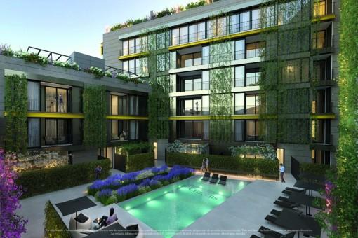 Dakterras Met Jacuzzi : Extravagant nieuwbouw penthouse met groot dakterras en jacuzzi in