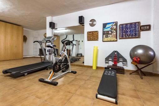 Private fitness area