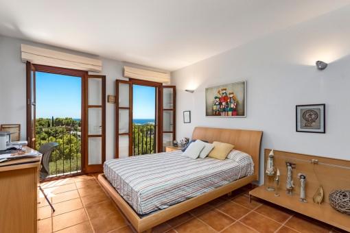 Bedroom with dreamlike sea views
