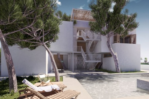 The villa consits of four luxury apartments