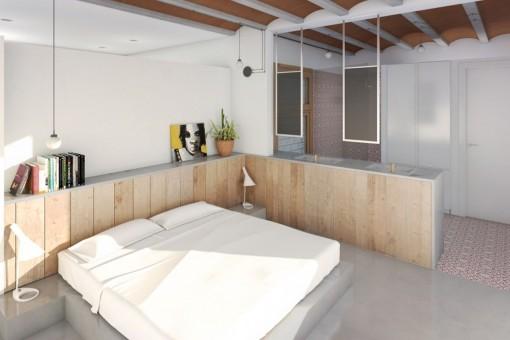 Stylish double bedroom with bathroom en suite