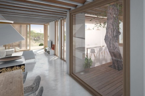 Living area with direct acces to the terrace