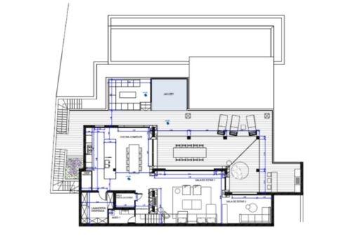 Floor plan of the ground floor