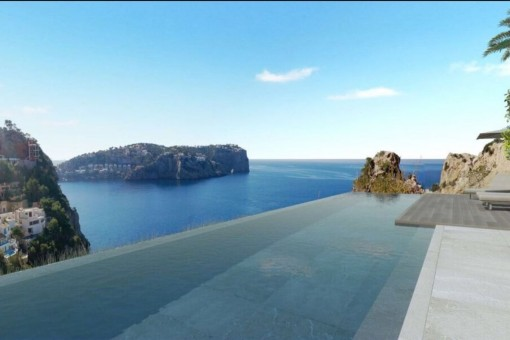 Infinity pool with breathtaking sea views