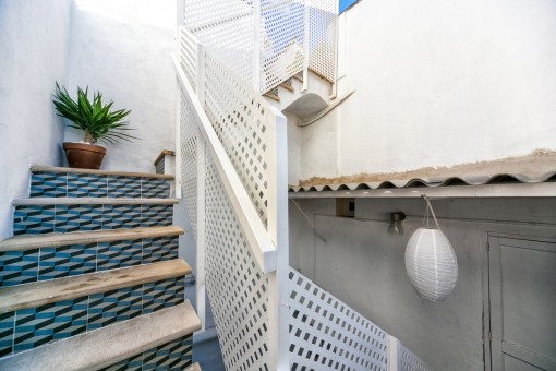 Staircase to the roof terrace