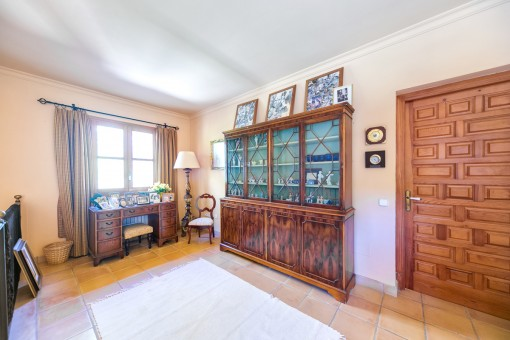 The villa offers ample space
