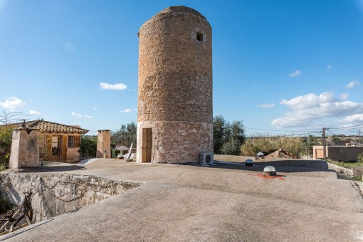 The highest point of the tower provides wonderful views over Santanyi