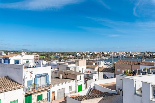 Views to the fishing port of Portocolom