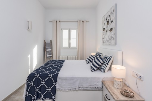 Wonderful bedroom with heating