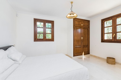 One of 4 comfortable bedrooms