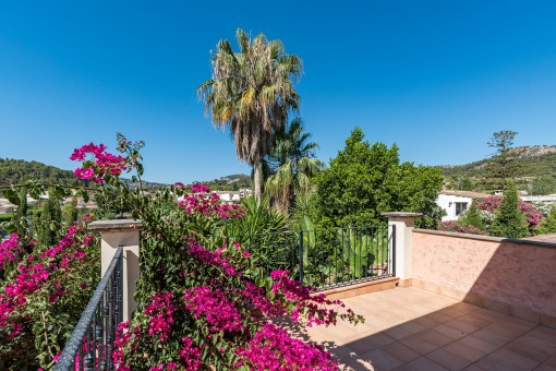 Idyllic terrace with views over the village