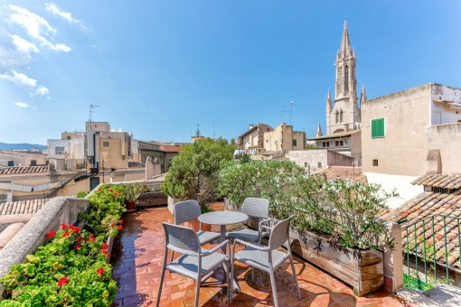 Commerciëel in Palma de Mallorca oude stadskern