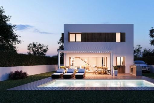 Energy-efficient detached villa project in Bunyola