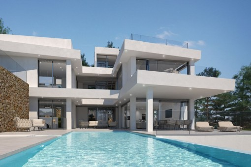 Spectacular designer villa in first sea line<br /> with private access to the sea in Cala Santanyí