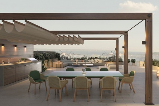 Penthouse in a stylish new building project on the Son Quint golf course in Son Rapinya