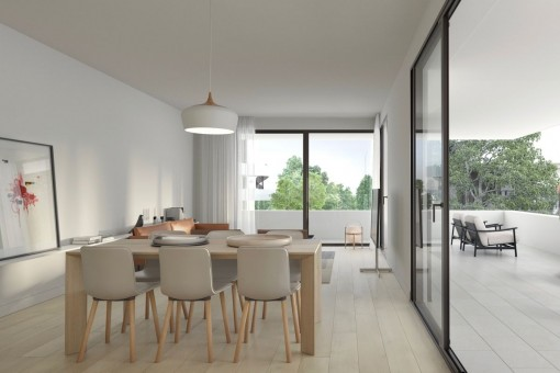 Modern, newly-built apartment in a stylish building project on the Son Quint golf course in Son Rapinya