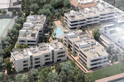 Spacious apartment in a stylish new building project on the Son Quint golf course in Son Rapinya