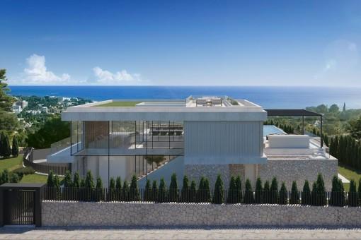 Project for a modern luxury-villa in Costa d'en Blanes