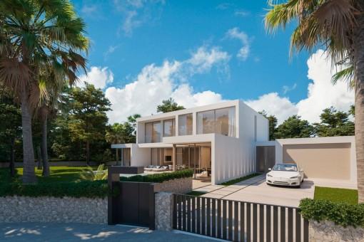 New, minimalistic villa project with pool in Santa Ponsa