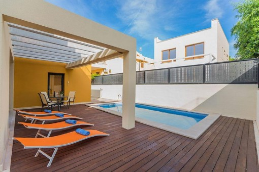 House with pool, sea views and touristic rental licence for 6 persons in Colonia St Pere
