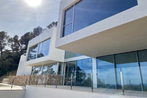Avant garde and newly-built villa in Bunyola with superb views