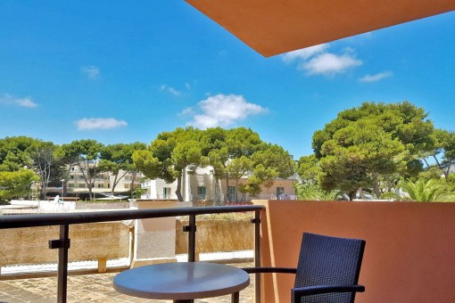 Fantastic one bedroom apartament with communal swimming pool located next to Cala Agulla beach