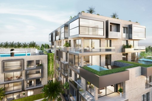 Modern new-built 2 bedroom apartment in a luxurious complex in a top location Portixol, near Palma old town