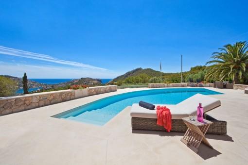 Unique luxury villa in Puerto de Andratx with sensational harbour views