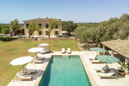 Luxurious finca property with its own olive...