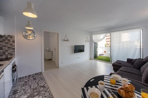 Small and cosy, recently renovated apartment in the heart of Palma with communal pool