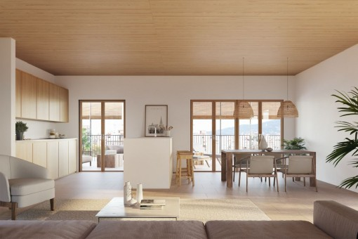Luxurious apartment with balcony on the third floor of a newly built passive house in Palma