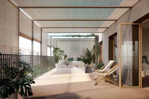 Modern apartment with one bedroom and balcony in new build passive house in Palma
